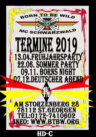 Veranstaltungen Born To Be Wild Mc Germany